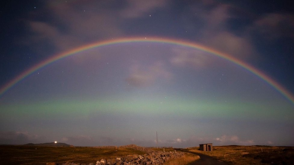 Moonbow over Durness